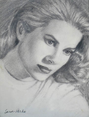 'Grace' - pencil drawing by Sarah Parks