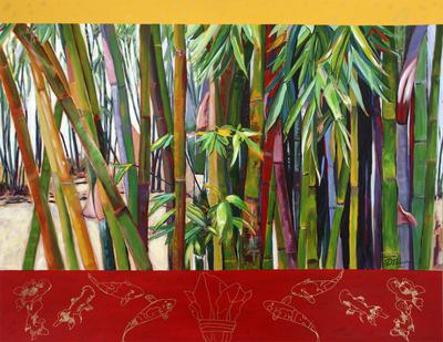Bamboo Forest acrylic on canvas 70 x 90 x 4cm