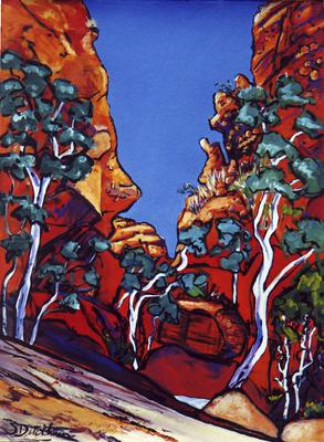 Roma Gorge NT gouache on arches 76 x 57cm