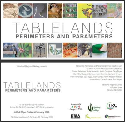'Tablelands, Perimeters & Parameters' DL Invitation