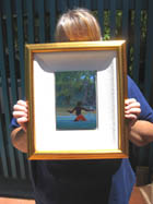 Quality frame for mangroves paintings