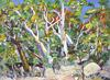 River Gums + Hakea Finke River NT acrylic on arches 57 x 76cm