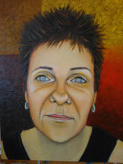 Portrait of Tyna - oil painting