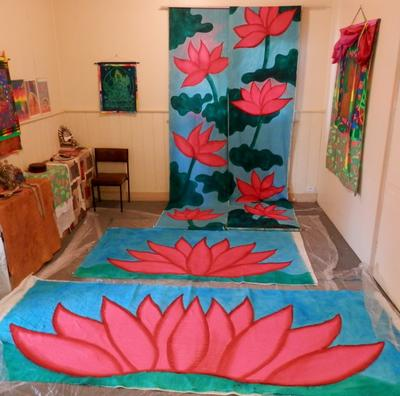 Lotus painting in the living room.