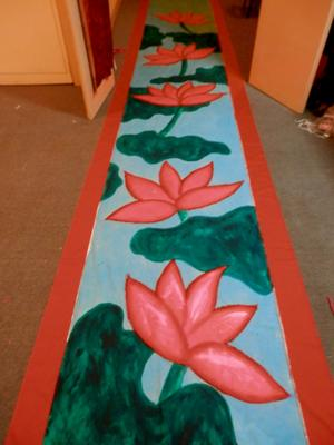 Lotus painting down the hallway!!