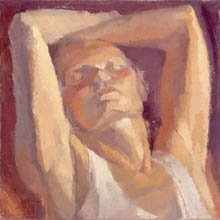 Mary Ann Runciman, girl with arms above her head