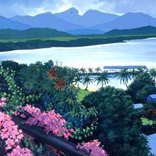 Tania Heben, view from Port Douglas hill to the inlet