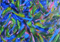 Blues abstract movement