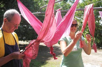 Shibori dyeing with natural dyes