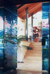 glass installation at Port Douglas resort