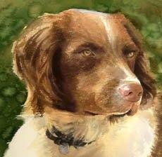 Red Dog painting