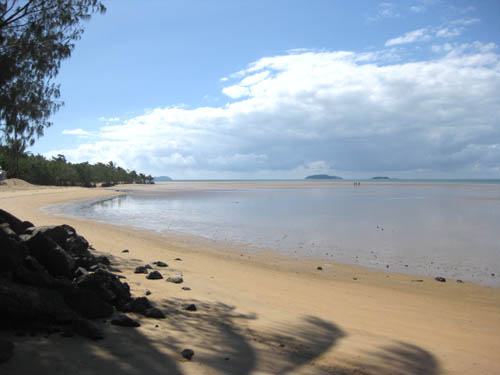 Looking north from Bingil Bay on the mainland across from Dunk Island