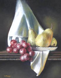 DElmus Phelps, Still Life With Grapes, oil painting