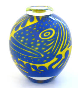 Hoglund Art Glass, 'Great Barrier Reef, Australia'