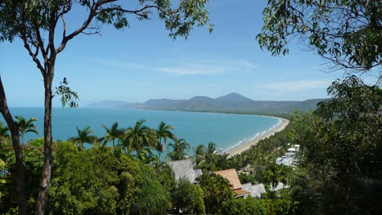 View from Flagstaff Hill along Four Mile beach