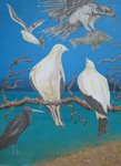 'Our Island Home 1' - triptych - oil on canvas