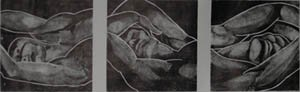 Small Black Sleepers lithograph by Mary Ann Runciman