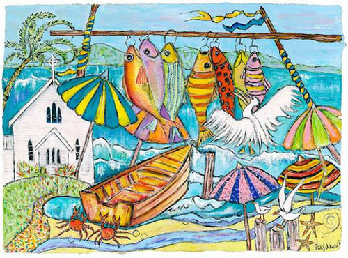 'Goin' Troppo, Port Douglas' giclee prints on paper.