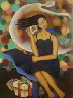 Yoshiko Kirby 'The Gift' acrylic, canvas